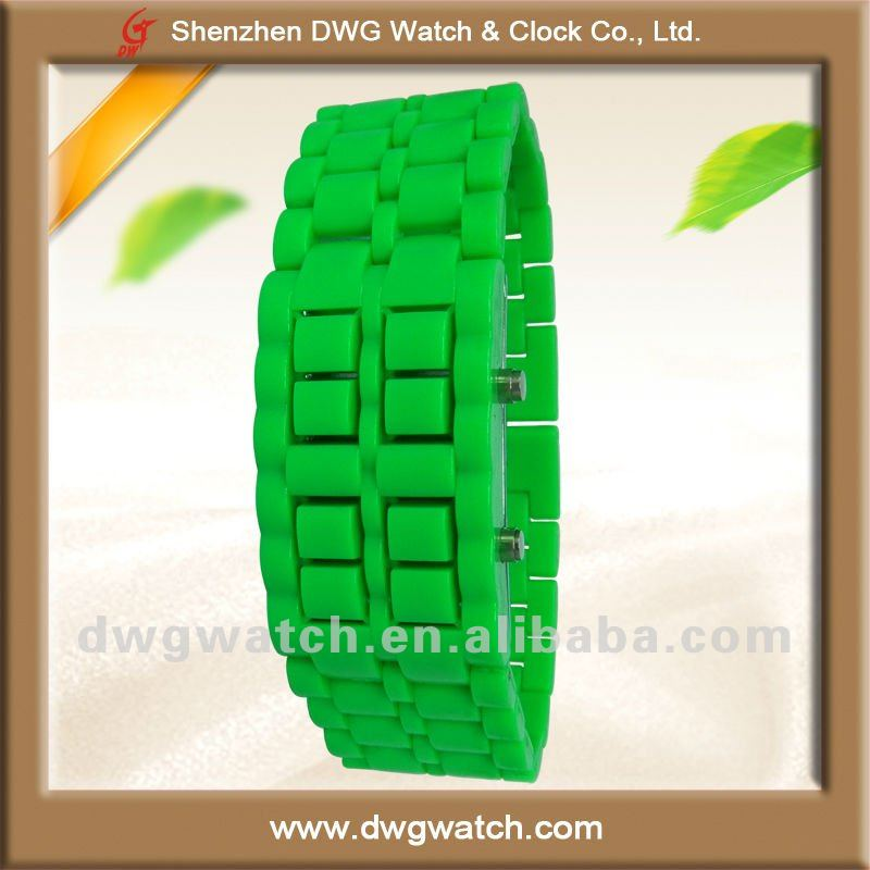 Plastic Lava Samurai Style Watch with Tin Box Packaging