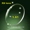 RX 1.61 optical lens with Low Sph High Cyl professional RX lab lens