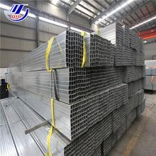 50x100mm rectangular steel tubing galvanized hollow section weight of gi square pipe