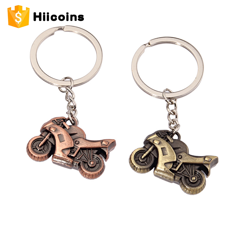 Promotional gift custom metal motorcycle keychain