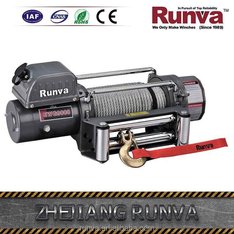 Hot selling DC 12V or DC 24V power drive optional 9000 lbs electric winch for 4x4