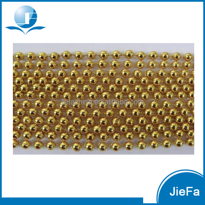 Wholesale 25m per roll Eco-friendly Gold Metalic Plastic Party Beads