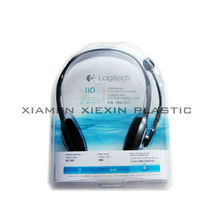 transparent blister hanging boxes for earphone packaging