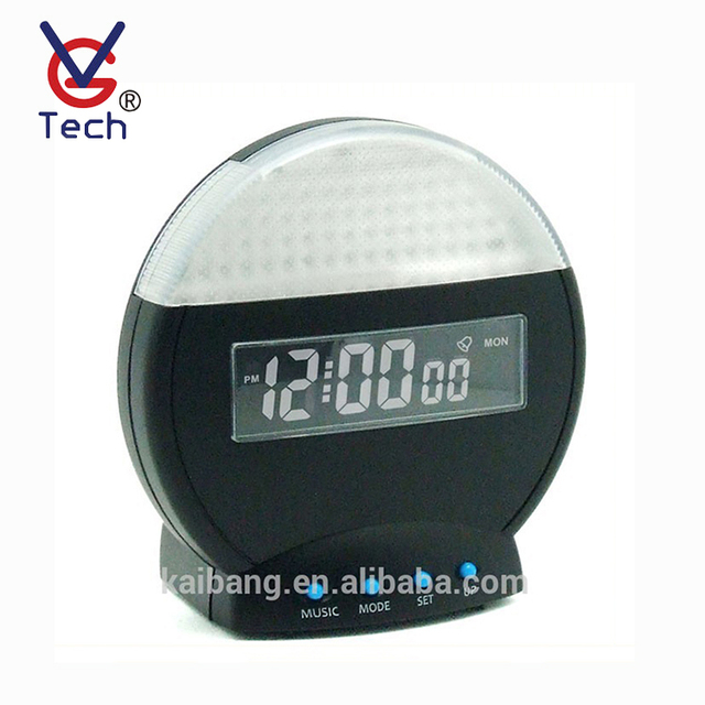 VGW-8010 Circular Modern Double Sided Digital Alarm Clock Display