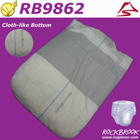 European Adult Diaper with Velcro from Rockbrook - Bamboo Printed Adult Diaper / Ultra-thin Disposable Adult Diaper