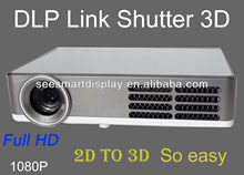 New 2D Convert To 3D Pocket HDMI LED Projector built in Andorid DLP Mini 3D HD Projector Home Theater
