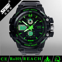 2013 new product strong water resistant men's dual time zone watches
