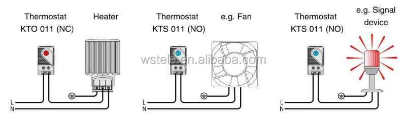 Thermostat KTO 011,Normally closed,control temperature