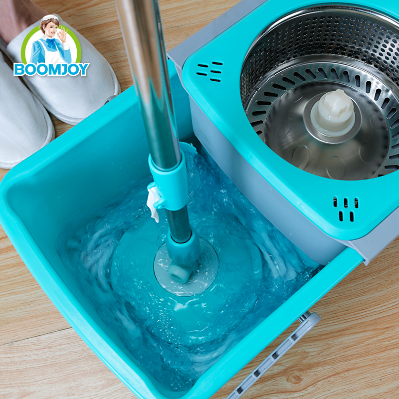360 DEGREE ROTATING FOLDABLE DRAWER TYPE STAINLESS STEEL HANDLE AND BUCKET MAGIC MOP SPIN MOP