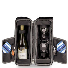 Wine Bottle Can Carrier Tote Beer Bottle Holder Including 2 Wine Glasses for Two People