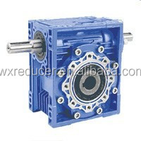 High Torque RV Series Right Angle 90 Degree Speed Reducer Double Shaft Input Gearbox