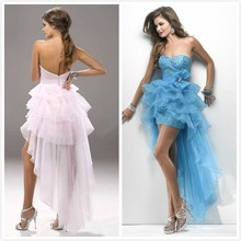 C65503A The latest diamond dress tail long and short dresses for women