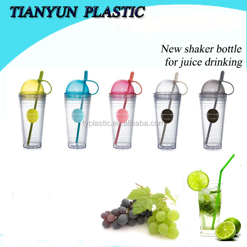 plastic juice and coffee drinking water bottle for promotion