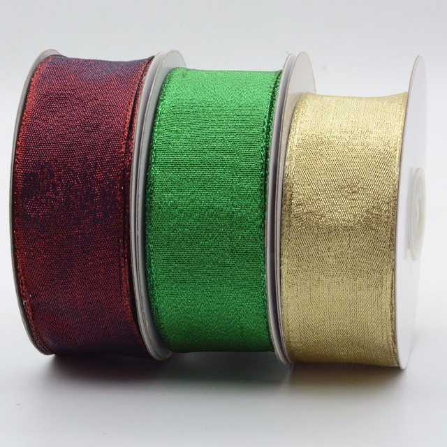 Wholesale red decorative festive celebrate it christmas wire ribbon