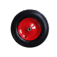 Heavy duty 4.00-8 small pneumatic rubber wheel for wheelbarrow
