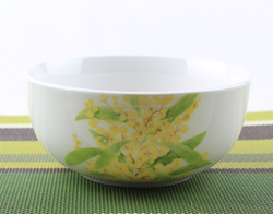 Natural And Fresh With Light Blue Pattern Porcelain Bowl