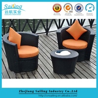 Sailing Resin Patio Furniture Outdoor Seating Round Shape Chairs Sale