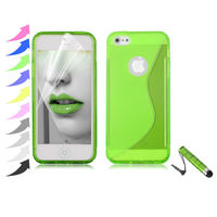 New Cool S Shape TPU Gel Shell Case For Apple iPhone 5