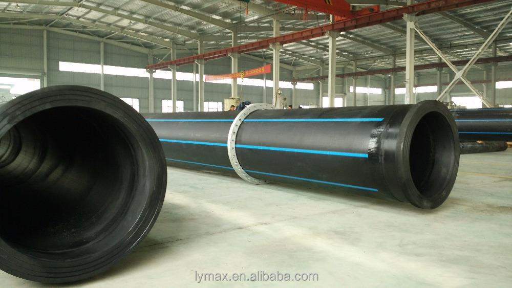 Large diameter plastic mm pipe hdpe