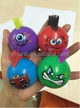 wholesale price emoji ball with flashing light children light-up toy ball novelty toy for kids