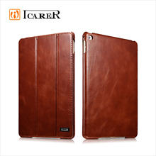 ICARER Vintage Series Real Leather Flip Case for iPad Mini 4