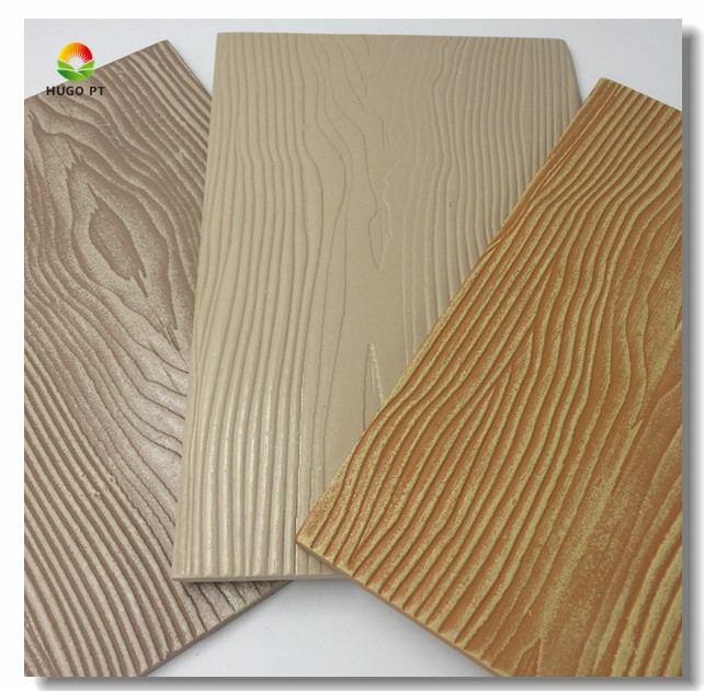 House Wall Hanging Decoration Wood Grain Surface Exterior Fiber Cement Wood Siding Panels
