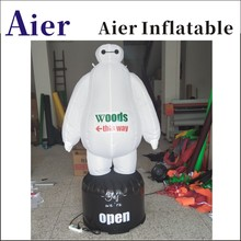 Inflatable white Inflatable LED cartoon Commercial inflatable advertising mascot
