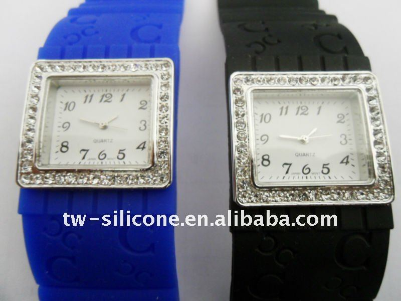 Rhinestone Silicone Brass Watches Men