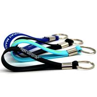 Promotional beautiful fashion design custom silicone Key Chains