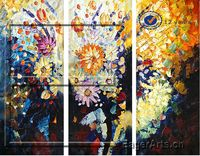 High Quality Handmade Modern Canvas Flower Oil Painting Decoration