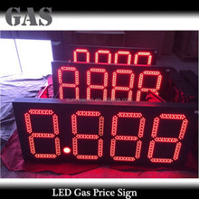 Customize supply 8 letter gas station digital led gas price sign 10inch led gas price sign, hot sale!!!!!
