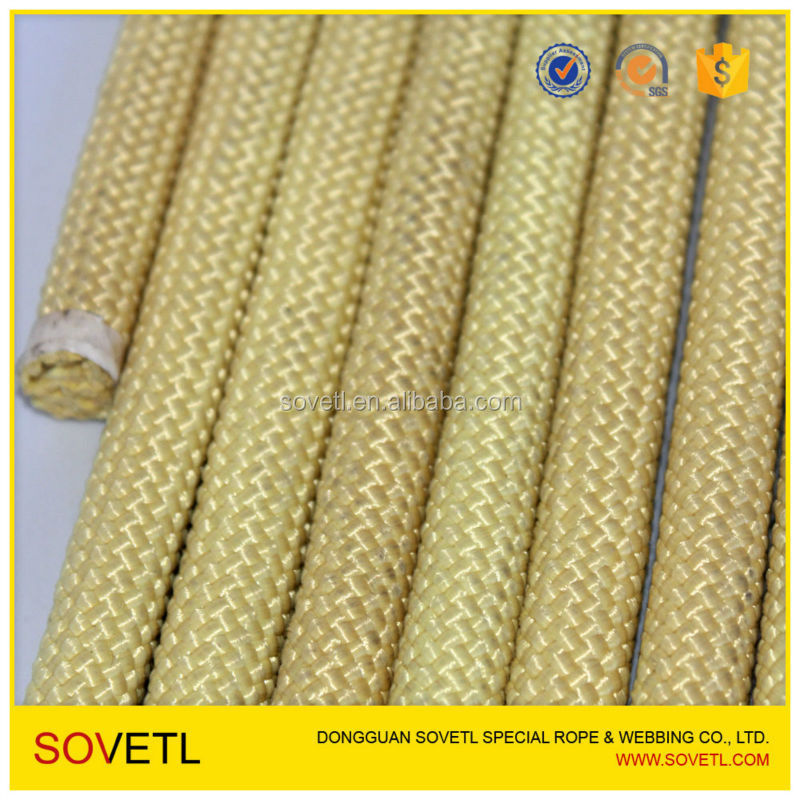 Customized Braided Aramid Fiber Rope from Chinese factory