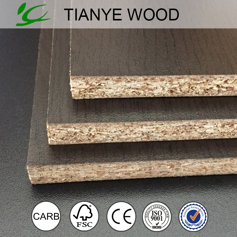 Tianye brand 9mm melamine paper laminated particle board