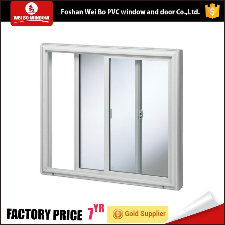 Quality upvc frame hurricane proof sliding window with double glass