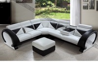 simple wooden sofa set design in balck and white color