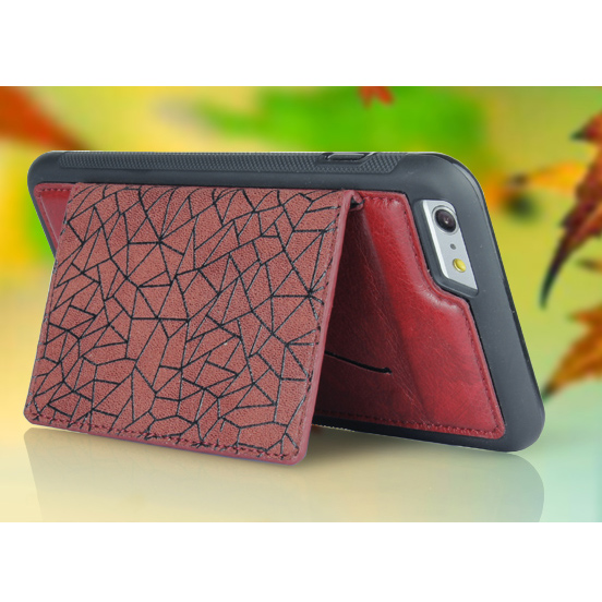 Red Simple Hot Selling Phone Back Case,for iphone 5.5 Inch Leather Cover