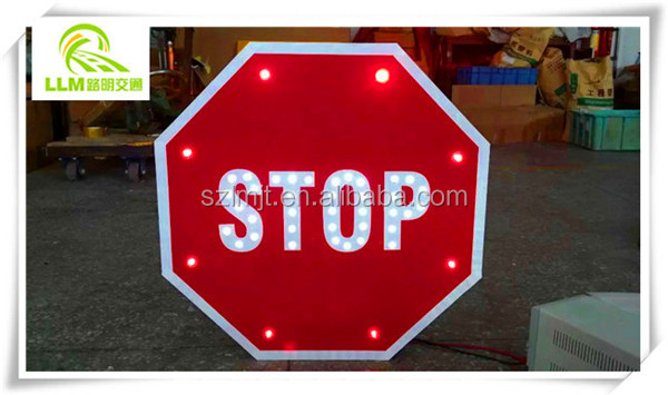 Flashing Safety Traffic Sign Stop Signal with 3m EGP reflector