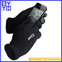 2015 Hot Black Smart Phone e Touch Screen Glove for iphone ipad