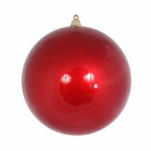 wholesale red clear glass Christmas ornaments snow balls