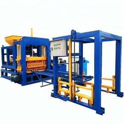 QT4-15 automatic hydraulic fly ash cement concrete brick making machine