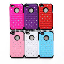 hard case back cover for iphone4 4s, bling star case