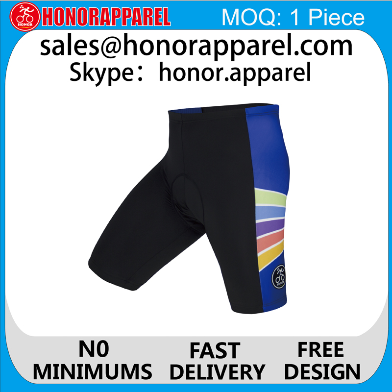 2017 Custom Bike Brand Compression Shorts Mens Cycling Shorts