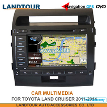 Car multimedia Navigation GPS DVD for toyota LAND CRUISER 2011-2014 CE FCC ROHS
