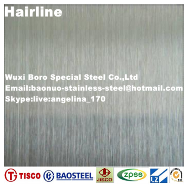 Hairline finish 201 stainless steel sheet / plate supplier