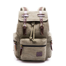 Vintage Canvas Retro Hiking Days Computers Laptop Unisex Casual Rucksack backpack