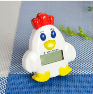 Hot Selling Cute Portable Electronic Chicken 60 Minute Personal Kitchen Time Countdown Reminder Cooking Ring Alarm