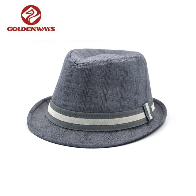 2018 latest fashion jazz winter upbrim grey fedora top hat for men
