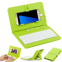 Wholesale Colorful Cover With USB Wired Keyboard Stand Flip PU Leather Keyboard Case for Samsung Galaxy Note 2