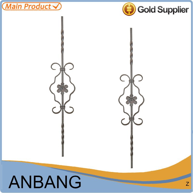 outdoor wrought iron stair railing wrought iron bar railing-6165