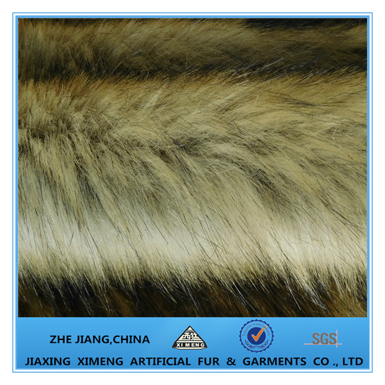 Luxury Colorful Faux Fox Fur Fabric Long Pile Fake Fur For Teddy Bear Toy